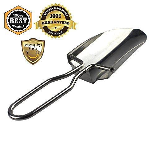 Meanhoo Mini Stainless steel Folding Shovel for Garden to Loose Gardening Tool Shovel & camping outdoor,survival travel shovel tool