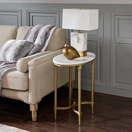 Bordeaux End Table White/Gold See Below