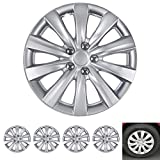 BDK Wheel Guards - (4 Pack) Hubcaps for Car Accessories Wheel Covers Snap Clip-On Auto Tire Rim Replacement for 16 inch Wheels 16' Hub Caps (Thin Spokes)