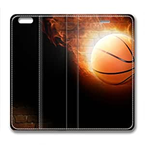 Basketball On Fire Masterpiece Limited Design Leather Cover for iPhone 6 by Cases & Mousepads
