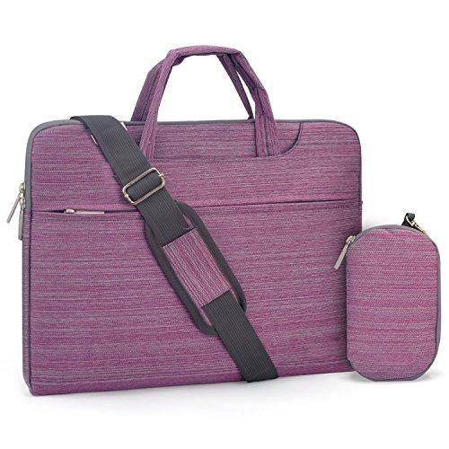 "FOPATI 12.5-13.3 inch Laptop Shoulder Messenger Bag Sling Bag Handbag Sleeve Case for MacBook Pro 13/ iPad Pro 12.9/ Lenovo HP ASUS Dell Acer Ultrabook Samsung Chromebook Pro Plus 12.3"" - Purple"