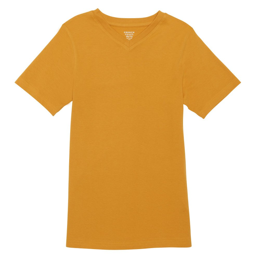 French Toast Boys' Little Short Sleeve V-Neck Tee, Saffron Thread 4