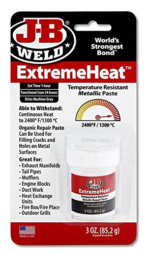J-B Weld 37901 6 Pack 3 oz. Extreme Heat Temperature Resistant Metallic Paste