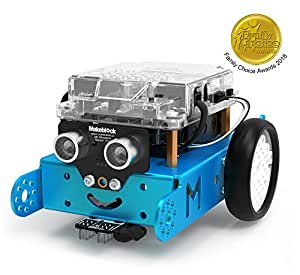 Makeblock mBot Robot Kit, DIY Mechanical Building Block, STEM Education, Entry-Level Programming Improves Kids' Logical Thinking Creativity, Compatible Lego(Blue, Bluetooth Version, Family)