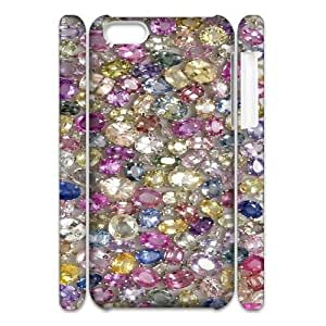 DIY Diamond 3D Phone Case, DIY 3D Case Cover for iphone 5c with Diamond (Pattern-4)
