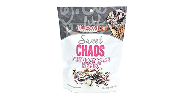 Amazon Cold Stone Creamery Naturally Flavored Sweet Chaos 1 Pack 4 Oz Birthday Cake Remix Grocery Gourmet Food