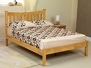 b0810d15df1c Image Unavailable. Image not available for. Colour: Arquette Solid wood Bed  Frame Sweet Dreams, OAK WHITE (OAK, 4FT SMALL DOUBLE