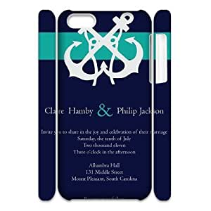 DIY Anchor Dream 3D Cover Case for iPhone 4 4s, DIY Anchor Dream 3D Iphone 4 4s Phone Case, DIY Anchor Dream 3D iPhone 4 4s Cell Phone Case