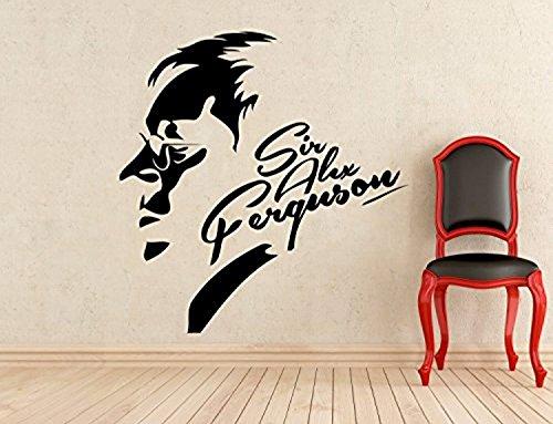 Sir Alex Ferguson Wall Vinyl Decal Manchester United Legend Football Coach Sticker Home Interior Murals Art Decoration - Legend Wall Mirror