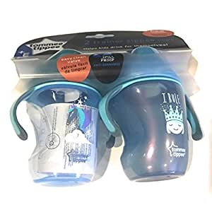 Tommee Tippee Trainer Sippee Cup 2 pack pink/purple NEW IMPROVED