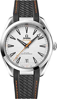 Omega Seamaster Aqua Terra Teak Silver Dial Mens Watch on Grey Rubber Strap 220.12.41.21.02.002