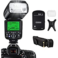 ESDDI Blitzgerät für Nikon, 1/8000 HSS Wireless Flash Speedlite GN58 2.4G Funk Master Slave für Nikon, Professional Blitz Kit mit Wireless Flash Trigger
