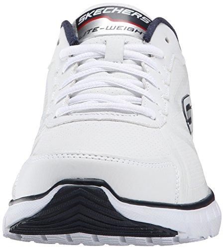 Skechers Soleus–Zapatillas de Deporte Hombre, Color Blanco, Talla 42.5 EU