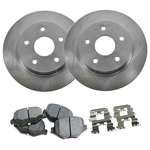 (Detroit Axle - Complete Rear Brake Rotor Set & Brake Pads w/Clips Hardware Kit Premium GRADE for 2013-2016 Lexus ES300H/ES350 - [2013-2016 Toyota Avalon] - 2012-2016 Toyota Camry)