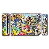 Super Smash Bros Melee Brawl Mario Pikachu Yoshi Mega Man Zelda Sonic Metroid Video Game Vinyl Decal Skin Sticker Cover for the Nintendo Wii System Console by Vinyl Skin Designs