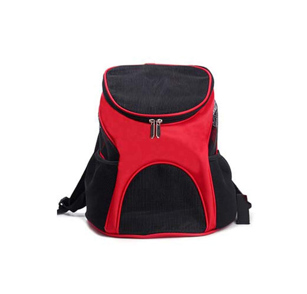 Red Double Shoulder Carry Bag, Out of The Portable Dog Travel Carrier Bag, Cosy Design House Large & Small Cats (color   Red)