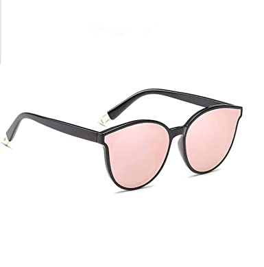 f4b822306 Image Unavailable. Image not available for. Colour: ROSE GOLD Cat Eye Women  Ladies Sunglasses Mirrored Aviator Reflective Retro UK