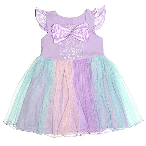 Wenge Little Girls Princess Mermaid Costume Dress Lovely Short Sleeve Cosplay (4-5 Years, (Little Mermaid Purple Dress)