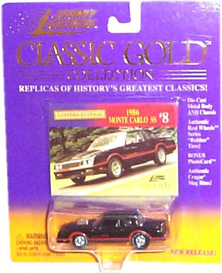 Johnny Lightning Limited Edition - Johnny Lightning - Limited Edition Classic Gold Collection - 1986 Monte Carlo SS (Black) - Collector #8