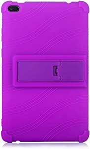 BAUBEY Tablet Silicone Case,Kids Stand Case for Lenovo Tab E8, Light Weight Anti Slip Shockproof Protective Cover with Built-in Kickstand for Lenovo TAB E8 TB-8304F TB-8304F1 (Purple)