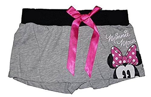 Disney Minnie Mouse Short Peeking Heather Grey Pajama Bottom Shorts Missy Sizing