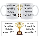 The Most Incredible Midwife Award 2016 - Ceramic Mug Gift by Face-On Personalised Mugs