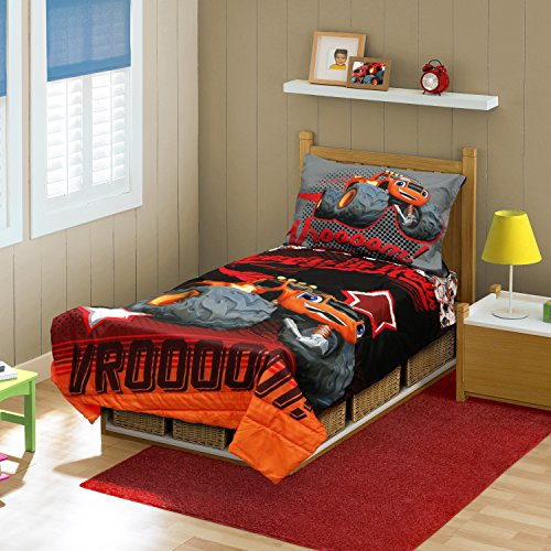 Blaze the Monster Machine Ready To Roll Toddler Bed Set, Red from Nickelodeon