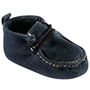 Luvable Friends Boy's Faux Suede Boot (Infant), Navy, 0-6 Months M US Infant
