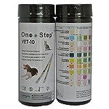 Dog, Cat Pet Urine Parameter Test Strips for pH, Infection, Diabetes Test Sticks - 50 strips per tub
