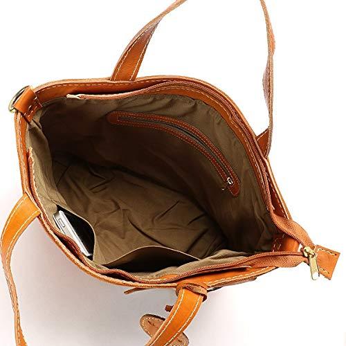 88fb2b4577a6 Amazon   ズッケロフィラート(Zucchero filato) カウレザーメッシュトートバッグ【ブラウン/**】   レディースバッグ・財布