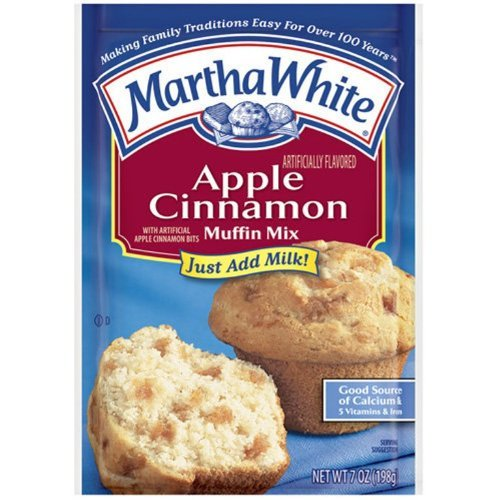 Martha White Muffin Mix Apple Cinnamon 7.0 oz. (Pack of 6)