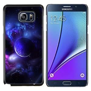 YiPhone /// Prima de resorte delgada de la cubierta del caso de Shell Armor - Purple Planet Universo Luna Galaxy estrella Nube - Samsung Galaxy Note 5 5th N9200