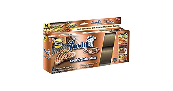 Amazon.com: Yoshi esterillas de cobre para parrilla ...