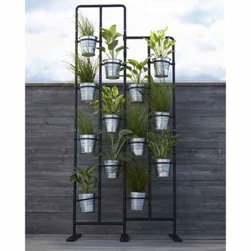Elegant Amazon.com : Vertical Metal Plant Stand 13 Tiers Display Plants Indoor Or  Outdoors On A Balcony Patio Garden Or Use As A Room Divider Or Vertical  Garden ...
