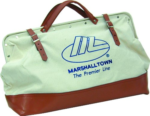 Marshalltown+Trowel+ Products : MARSHALLTOWN The Premier Line 831L 20-Inch Canvas Tool Bag with Leather Bottom