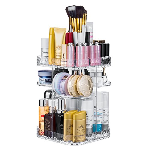 IFM TOOLS 360-Degree Rotating Makeup Organizer, Clear