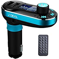[2017 New Arrivals] J-DEAL Car Kit Bluetooth MP3 Player FM Transmitter Hands-free Car Kit Charger Support SD Card/USB