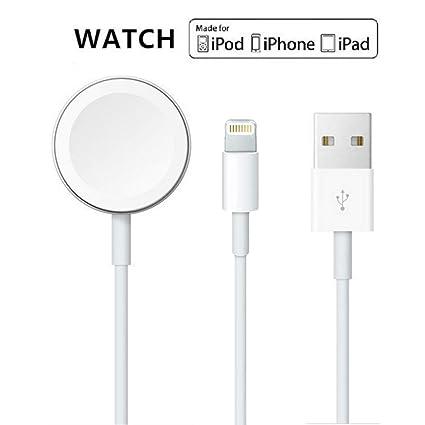 Amazon.com: Cargador de Apple Watch, 2 en 1, cargador de ...