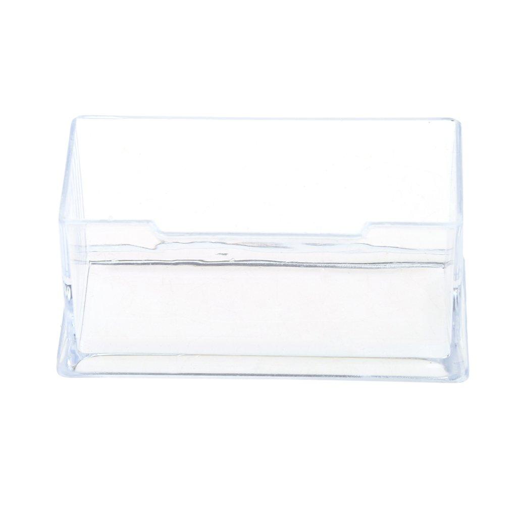 JERKKY Transparenter Visitenkartenhalter aus Acryl-Kunststoffst/änder-Rack-Desktop-B/üro