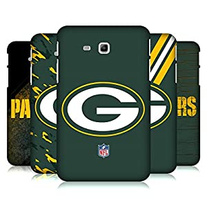 Official NFL Green Bay Packers Logo Hard Back Case for Samsung Galaxy Tab 3 Lite 7.0 from Head Case Designs
