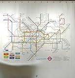 Izola London Underground Map Shower Curtain