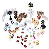 Marrywindix 56 Pcs Miniature Ornament for DIY Fairy Garden Dollhouse Decor