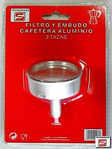 Distribuidora Ersa Filtro, Embudo Cafetera, Aluminio, Gris, 17,6 x 12,7 x 6,8 cm: Amazon.es: Industria, empresas y ciencia
