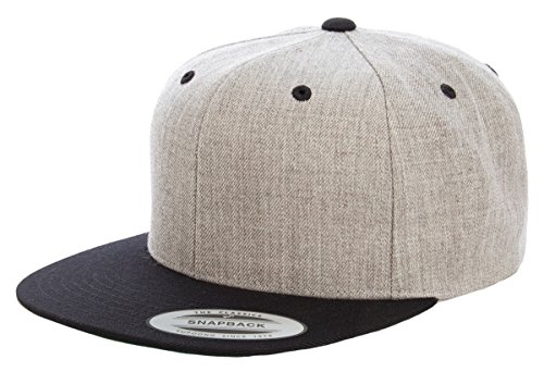 Yupoong - Wool Blend Flat Bill Snapback Cap - - Monday Cyber Snapback Deals