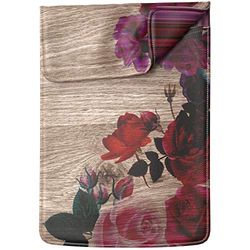 Lex Altern Tablet Sleeve Case for iPad Pro 12.9 11 10.5 9.7 inch Mini 5 4 3 2 1 Air 2 2019 2018 2017 5th 6th 3rd Gen Flowers Blossom Wood Roses Pink Floral Springtime Cover Protective Print Women