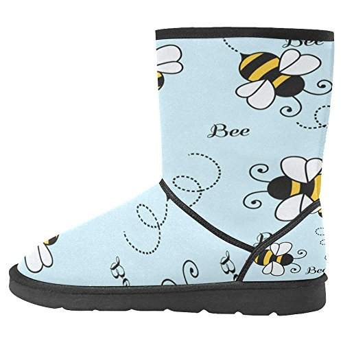 InterestPrint Womens Snow Boots Unique Designed Comfort Winter Boots Bees Multi 1 e7ueikmV4
