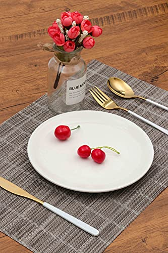 HeloHo Placemat Placemats for Dining Table Heat-Resistant Placemats Washable Table Mats Non-Slip Crossweave Woven Vinyl Placemat for Kitchen Dining Table Set of 4pcs