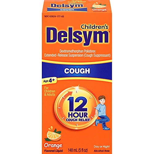 Delsym 12 Hour Cough Relief Liquid Orange - 5 oz, Pack of 2