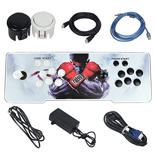 Amazon.com: MOPHOTO 1388 Arcade Games Console- Pandoras Box 5s Arcade Video Game Console Arcade Game Machine for 2 Players with Double Joystick Support HDMI ...