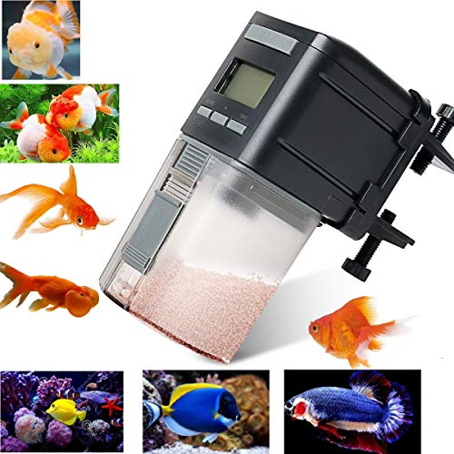 Fish Feeder,Automatic Fish Feeder Battery Operated Aquarium Tank Auto Pet Fish Food Feeder Timer Dispenser For Small Fish,Tropical Fish,Gold Fish from UStyle